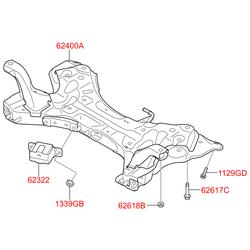 Поперечная балка подвески (Hyundai-KIA) 624002T100