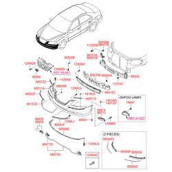 Бампер (Hyundai-KIA) 865113K800