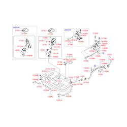 Бак топливный (Hyundai-KIA) 3115038050
