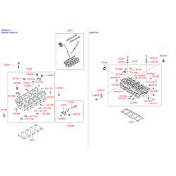 Головка блока цилиндров (Hyundai-KIA) 22001380B1