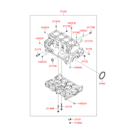 Блок цилиндров (Hyundai-KIA) 2110027060