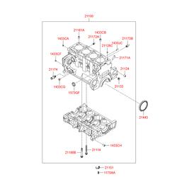 Блок цилиндров (Hyundai-KIA) 2110027400