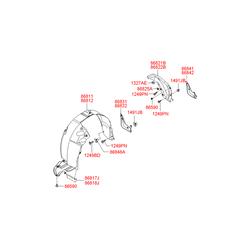 Подкрылок (Hyundai-KIA) 868413K000
