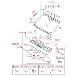 Проставка пластик (Hyundai-KIA) 861503S010