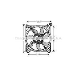 Вентилятор, охлаждение двигателя (Ava) HY7508