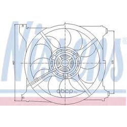 Вентилятор радиатор охлаждения двигателя (Nissens) 85265