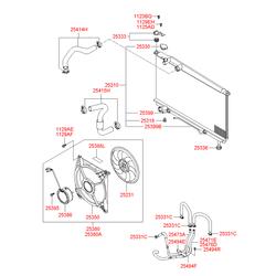 Вентилятор радиатора двигателя (Hyundai-KIA) 2523138000