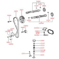 Гидрокомпенсатор (Hyundai-KIA) 2223126010
