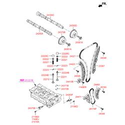 Клапан вентиляции картера двс (Hyundai-KIA) 243552G000