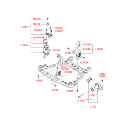 Опорный узел двигателя (Hyundai-KIA) 218103L300