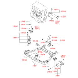 Подушка двигателя (Hyundai-KIA) 218103K400