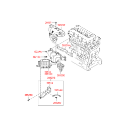 Защита двигателя (Hyundai-KIA) 2852525101