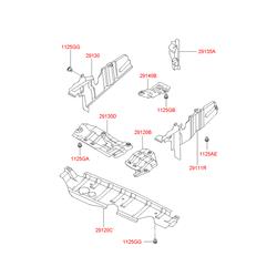 Защитная панель моторного отсека (Hyundai-KIA) 2911038060
