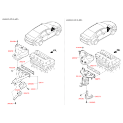 Защитный кожух выпускного коллектора двигателя (Hyundai-KIA) 285252G240