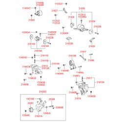 Кронштейн опоры двигателя (Hyundai-KIA) 2181038720