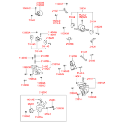 Подушка двигателя (Hyundai-KIA) 2181038710