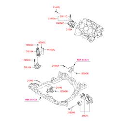 Подушка двигателя (Hyundai-KIA) 2161037106
