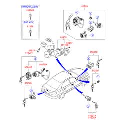 Корпус замка зажигания (Hyundai-KIA) 819103K000