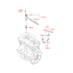 Резистор переменного сопротивления (Hyundai-KIA) 273252B000