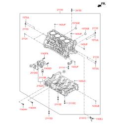 Фильтр маслянный сетчатый (Hyundai-KIA) 2435625000