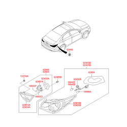 Противотуманная фара (Hyundai-KIA) 924013S020