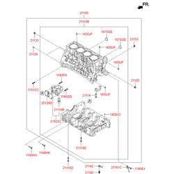 Масляная форсунка двигателя (Hyundai-KIA) 211422G000