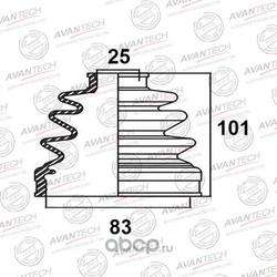 Пыльник привода (AVANTECH) BD0205