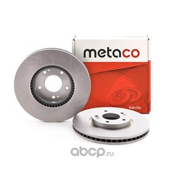 Диск тормозной передний вентилируемый (METACO) 3050019