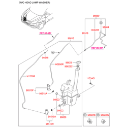 Датчик уровня жидкости бачка стеклоомывателя (Hyundai-KIA) 98520A5000