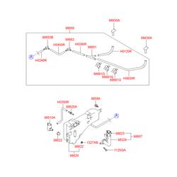 Мотор омывателя (Hyundai-KIA) 9851026000