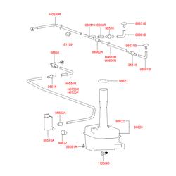 Мотор омывателя (Hyundai-KIA) 9851034000