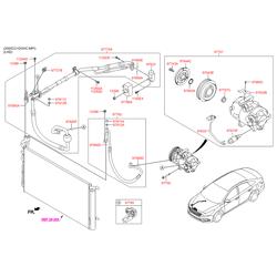 Компрессор кондиционера (Hyundai-KIA) 977013V110