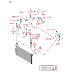Компрессор кондиционера (Hyundai-KIA) 977013K720