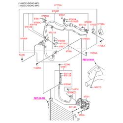 Кожух шкива компрессора кондиционера (Hyundai-KIA) 976442H000