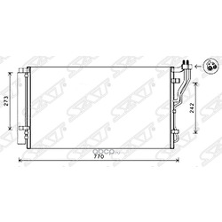 Радиатор кондиционера (SAT) STHY223940