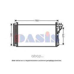 Конденсатор, кондиционер (AKS DASIS) 562019N