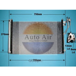 Конденсатор, кондиционер (Auto air gloucester) 161078