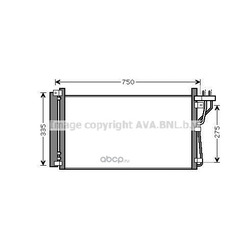 Радиатор кондиционера (Ava) HY5184D