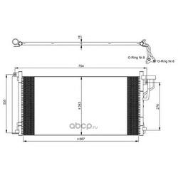 Радиатор кондиционера (NRF) 35962