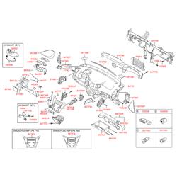 Дефлектор салона (Hyundai-KIA) 974203S001