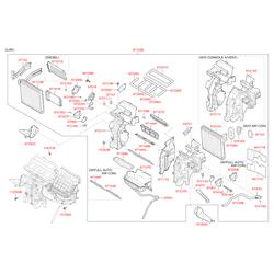 Привод заслонки отопителя салона, 10вт (Hyundai-KIA) 971573SAA0