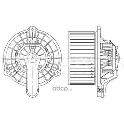 Вентилятор отопления (Luzar) LFH08Y0