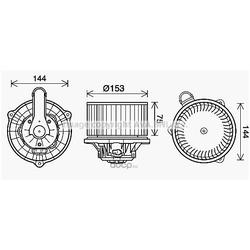 Вентилятор отопителя (Ava) HY8450
