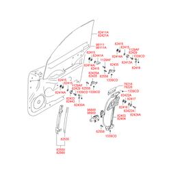 Датчик удара (Hyundai-KIA) 9611134002