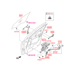 Наклейка с технической информацией (Hyundai-KIA) 961111C000