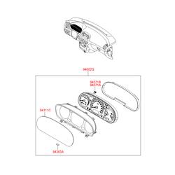 Щиток приборов (Hyundai-KIA) 940043K625