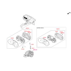 Панель приборов в сборе (Hyundai-KIA) 940033S570