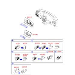 Выключатель противотуманных фар (Hyundai-KIA) 937403K910HZ