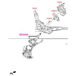 Датчик угла поворота рулевого колеса (Hyundai-KIA) 934801Y000