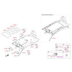 Фиксатор подсветки салона (Hyundai-KIA) 928263X000
